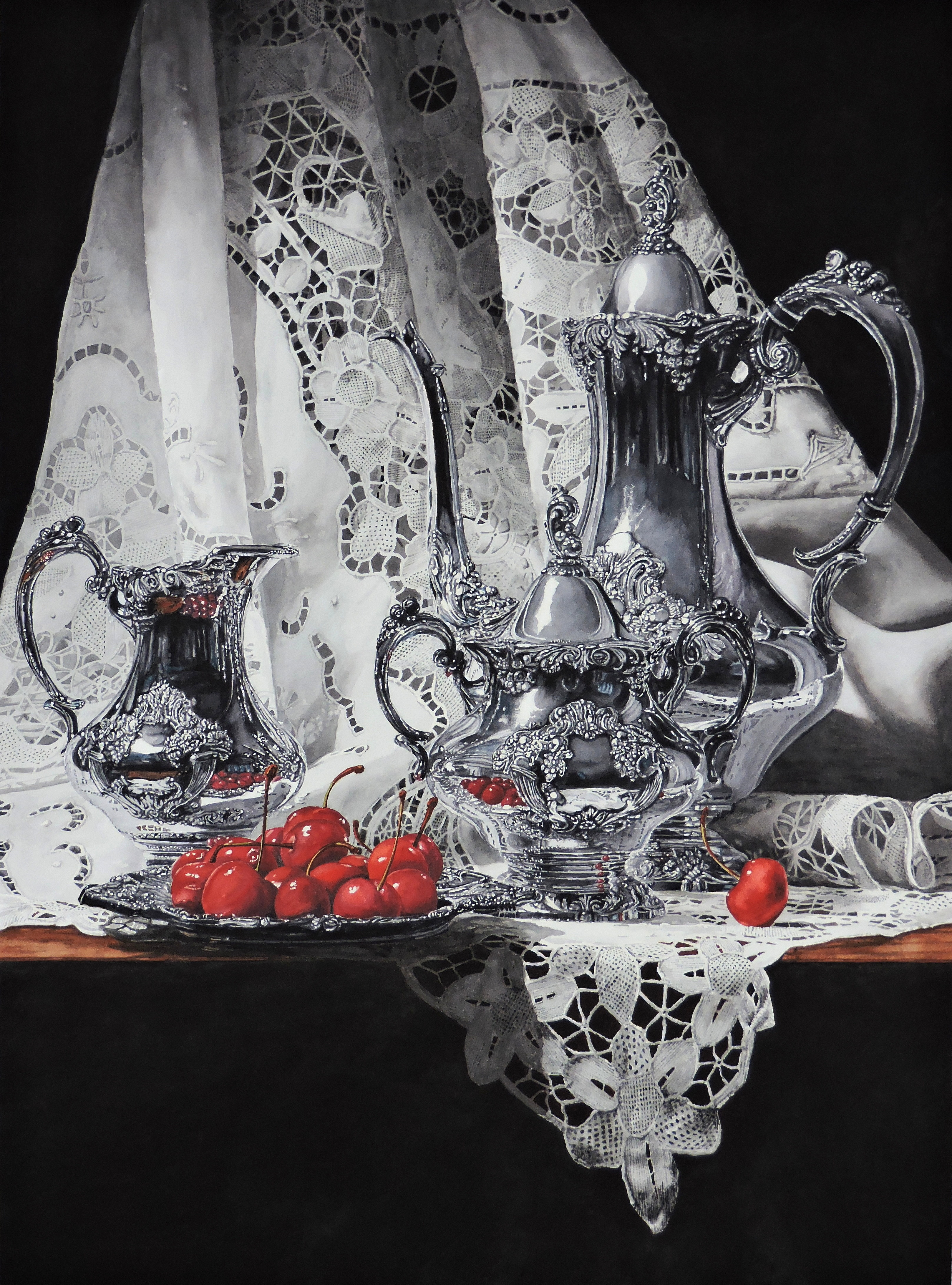 I am pleased and honored to report that my painting black white red has won best in show in the richeson75 still life floral competition