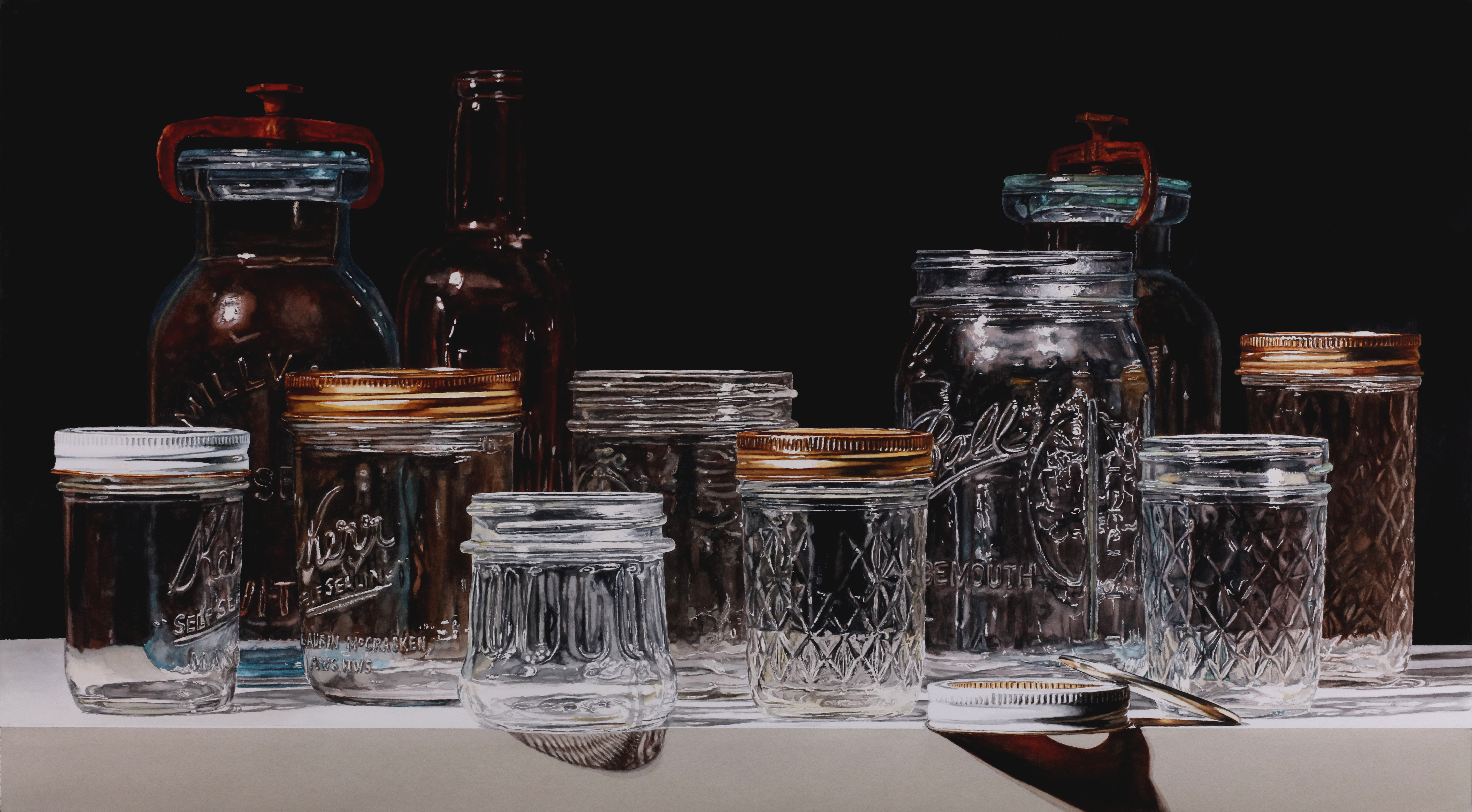 Watercolor art society of houston -  Canning Jars On Black Has Been Awarded The Morris Shubin Aws Memorial Award In This Year S American Watercolor Society 150th International Exhibition